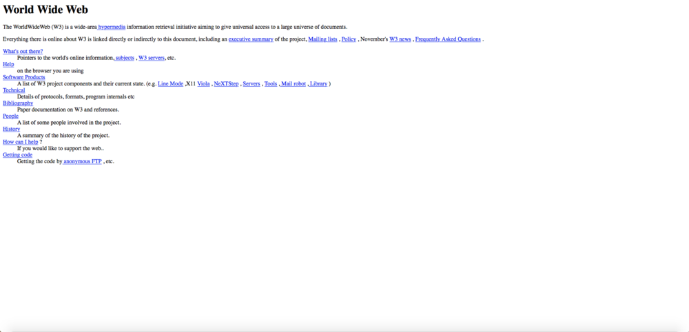 The very first web site.