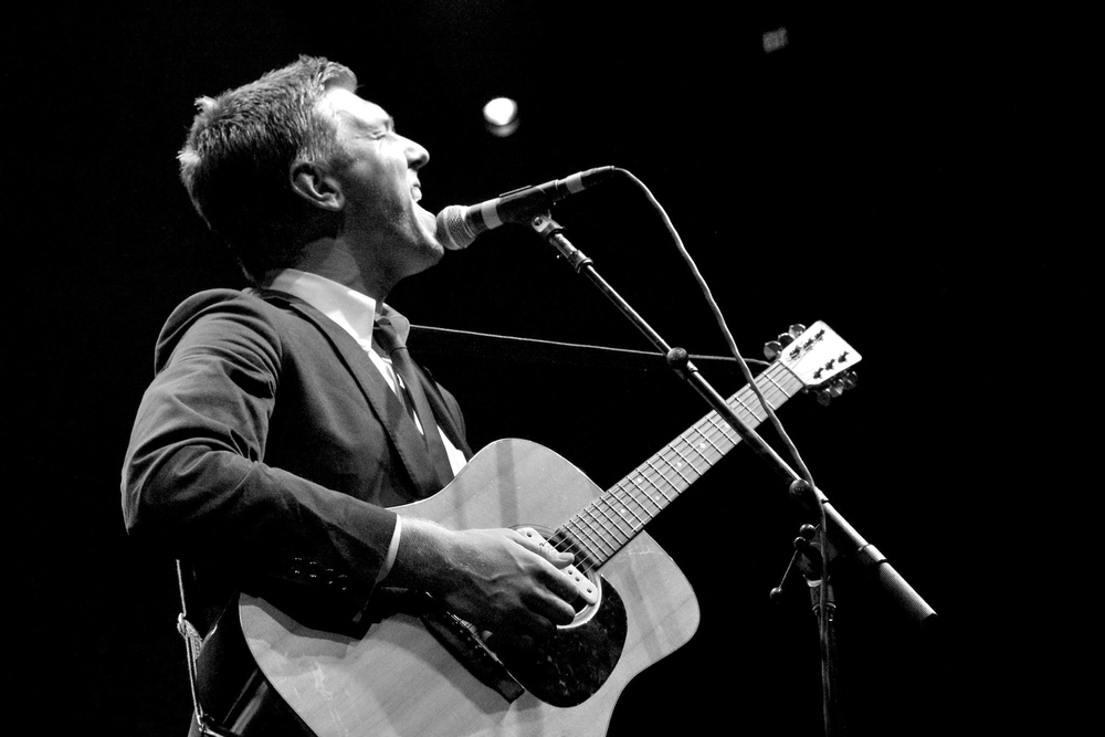 Hamilton Leithauser of The Walkmen entertains the capacity crowd at the Wells Fargo Theatre (Photo Credit Robert Castro)
