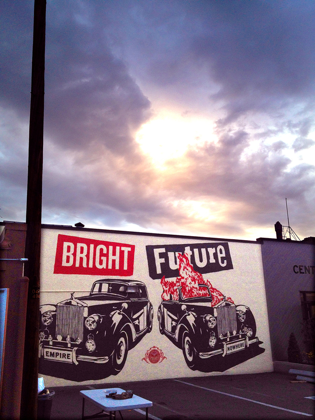 Bright Future mural by Shepard Fairey (Photo Credit Joseph Martinez)