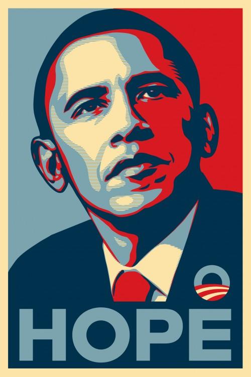 """Shepard Fairey's iconic """"Hope"""" image of Barack Obama"""