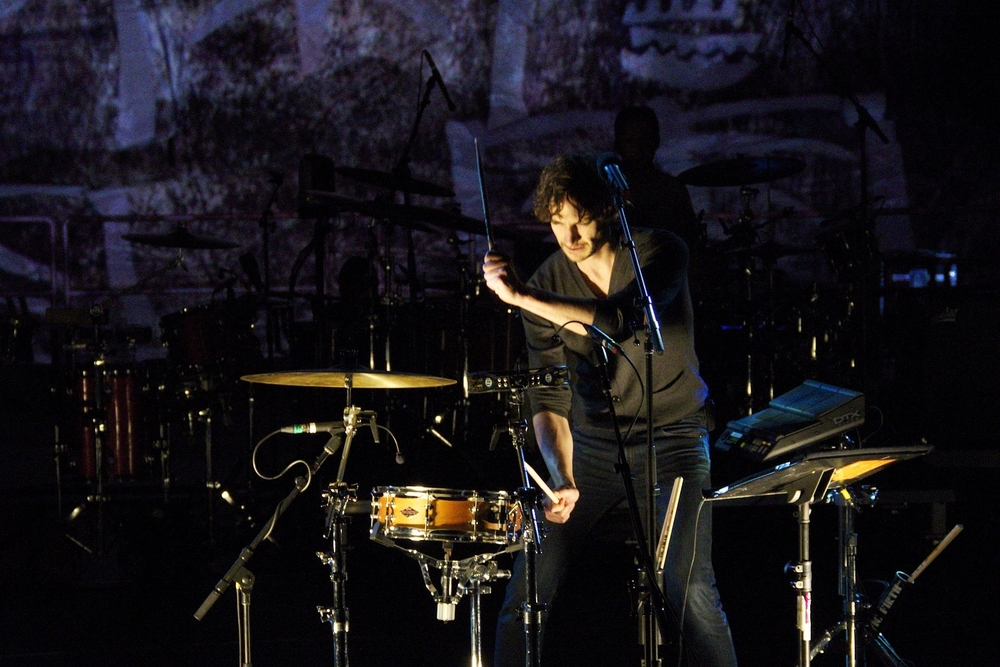 The multi-talented Gotye on drums (Photo credit: Maddie Casey)