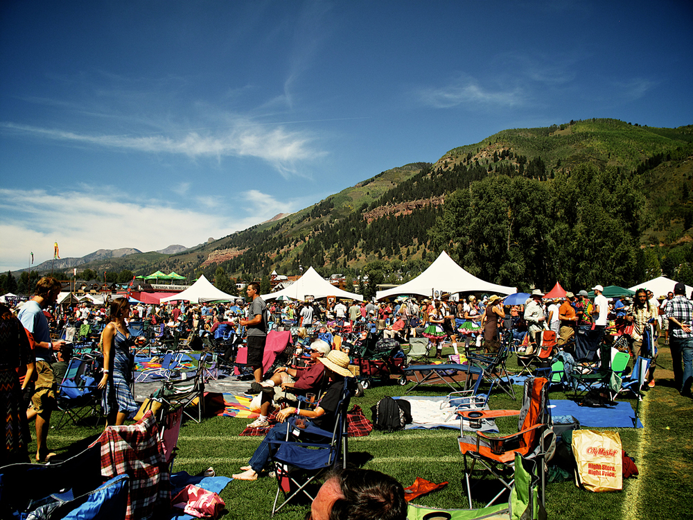 The crowd enjoying the 19th Annual Telluride Blues and Brews Festival (Photo credit: Amanda Spilos)