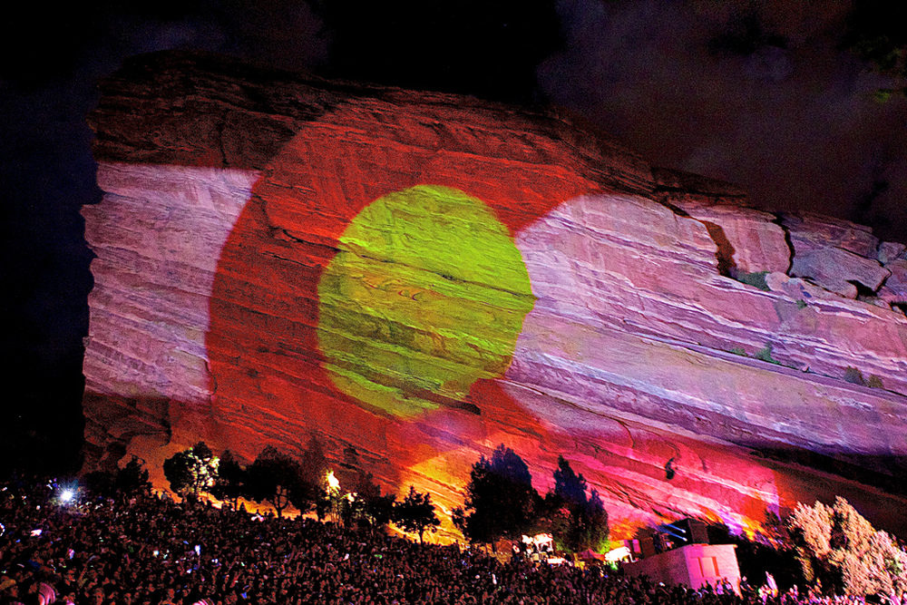 Red Rocks Projection Mapping (Photo Credit: Robert Castro)