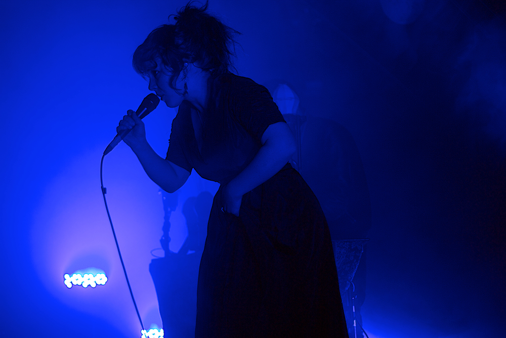 Megan James of Purity Ring (Photo Credit: Robert Castro