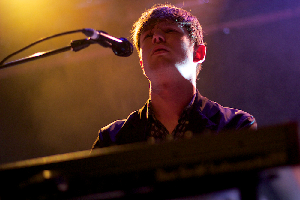 James Blake serenaded  the near sellout Ogden crowd on Sunday night. (Photo Credit: Robert Castro)