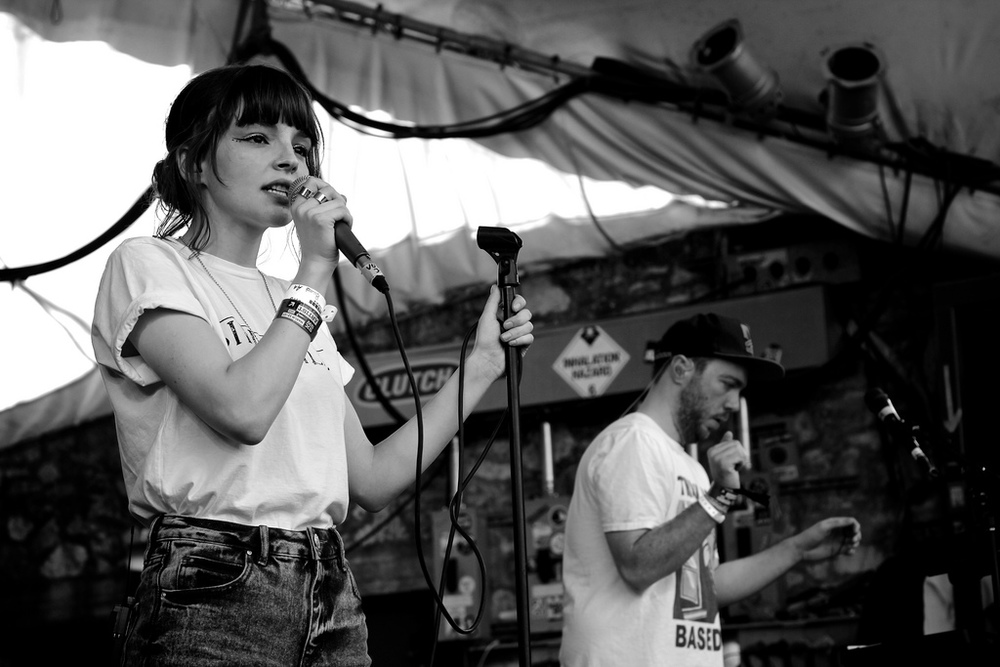 CHVRCHES performing during SXSW (Photo Credit: Robert Castro)