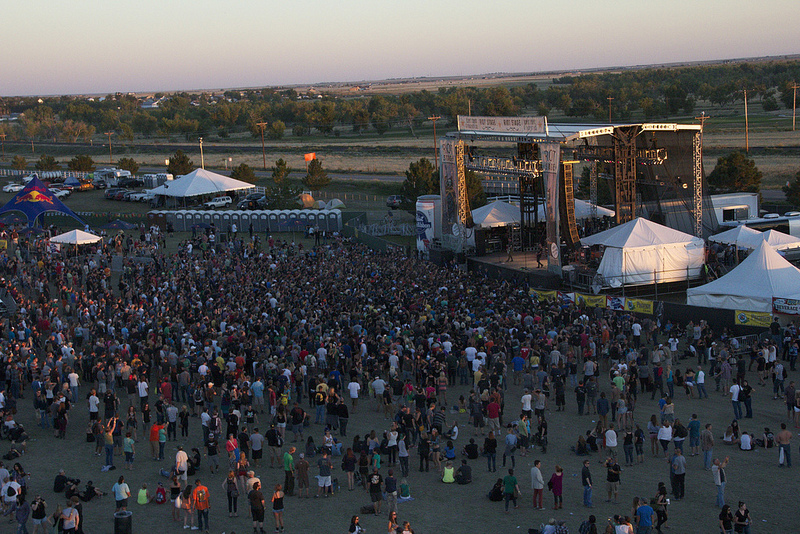Aerial shot of the crowds at Riot Fest (Photo Credit: Maddie Casey)
