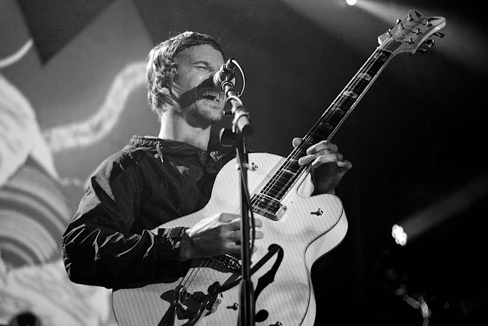 Portugal.The Man rocking the Ogden Theatre crowd (Photo Credit: Robert Castro)