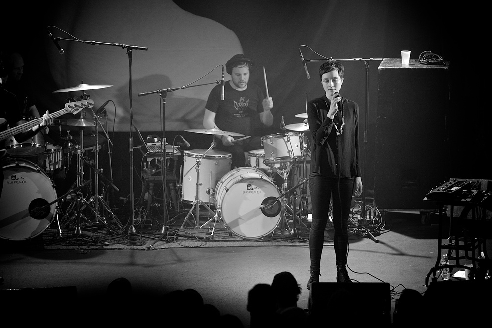 Polica playing to a near sold out Bluebird Theater on Tuesday night. (Photo Credit: Blake Gavaldon)