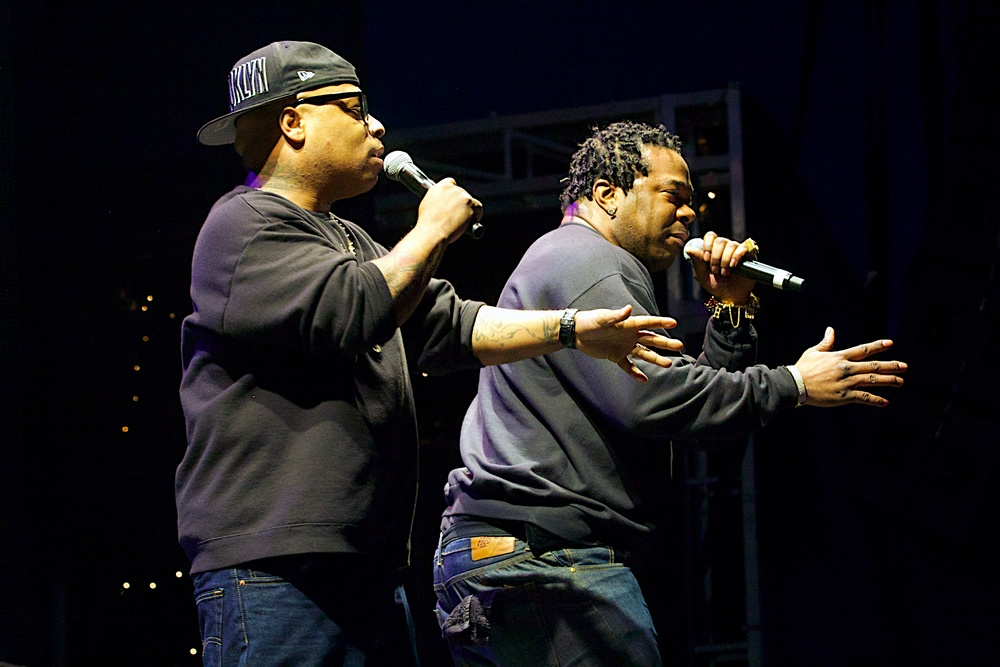 Spliff Star and Busta Rhymes doing what they have been for years (Photo Credit: Robert Castro)