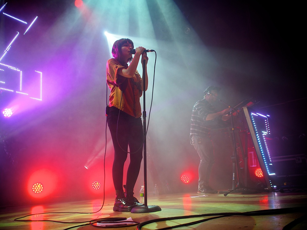 CHVRCHES play to a sold out Ogden crowd on Thursday. (Photo Credit: Robert Castro)