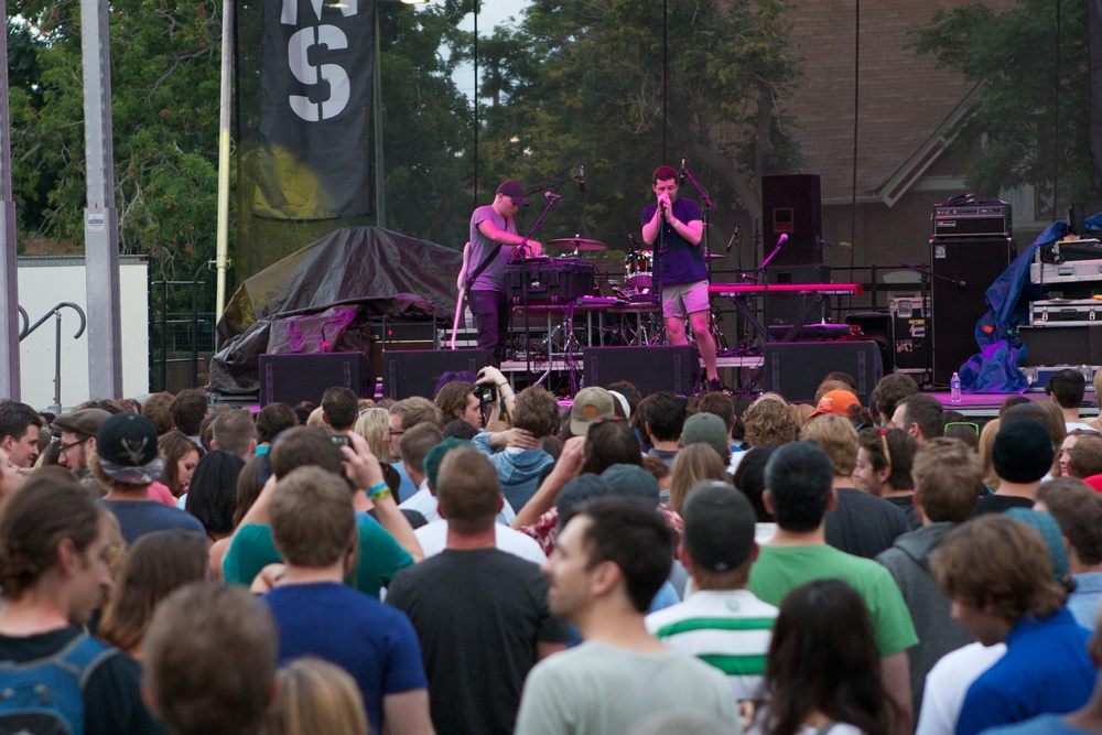 Baths playing a mid-day set. (Photo Credit: Matt Smith)