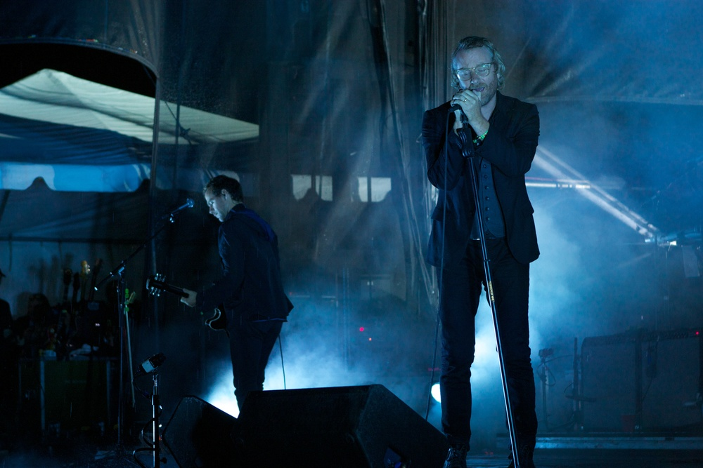 Matt Berninger of The National closing out the final night of a cold, rainy Riot Fest (Photo Credit: Matt Smith)