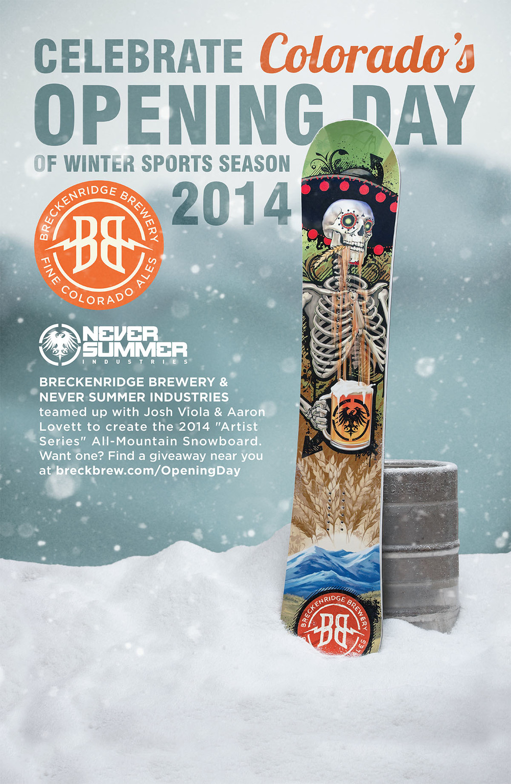 BRECK-762 Never Summer Opening Day Poster R3