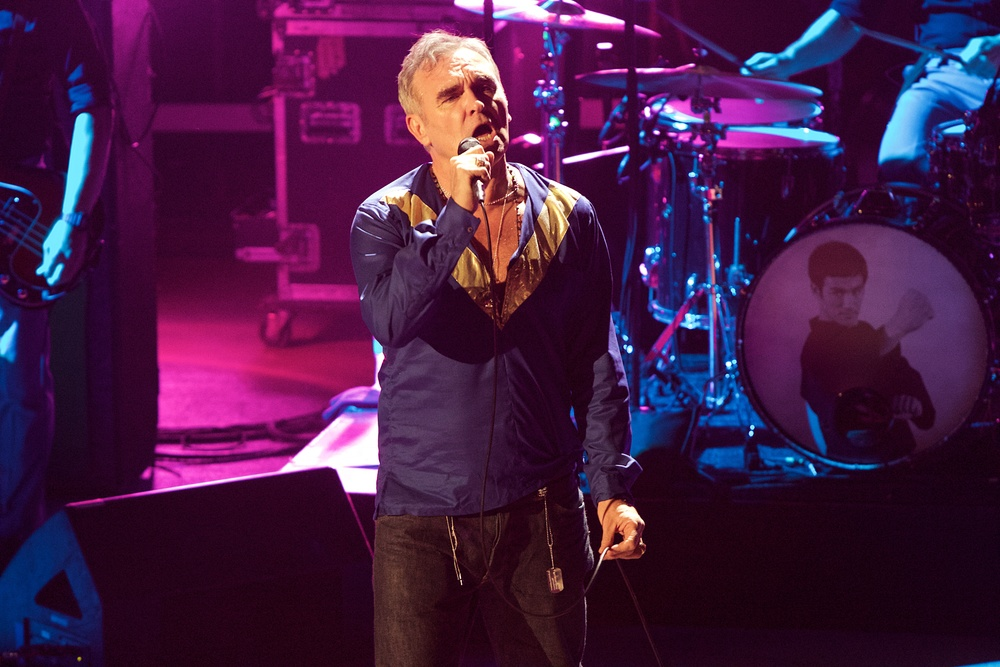 Morrissey playing to a Red Rocks crowd on Thursday night (Photo Credit: Robert Castro)