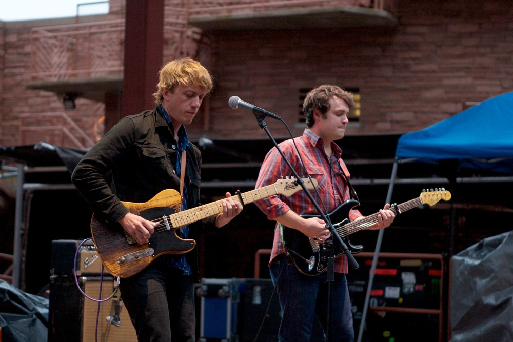 Steve Gunn opening for Wilco. Photo credit: Matt Smith
