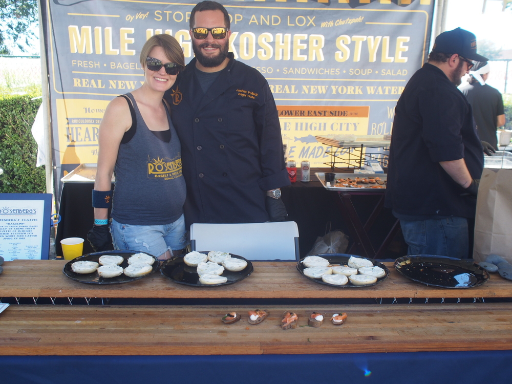 Happy bagel Bakers from RiNo's famous Rosenberg's.