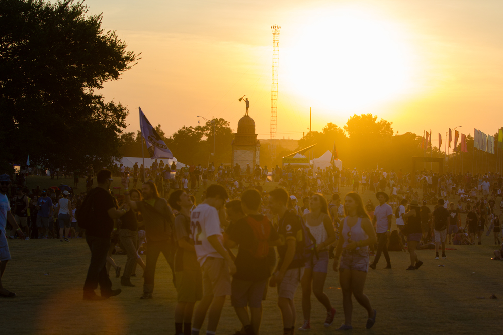 The sun setting on a wonderful day two of the festival. (Photo Credit: Robert Castro)