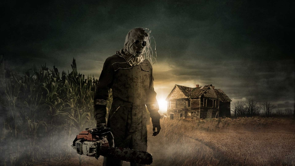 Chainsaws and corn - A Haunted Field of Screams staple.