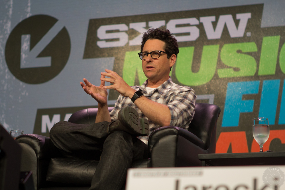 JJ Abrams speaking during one of the many panels at this years SXSW