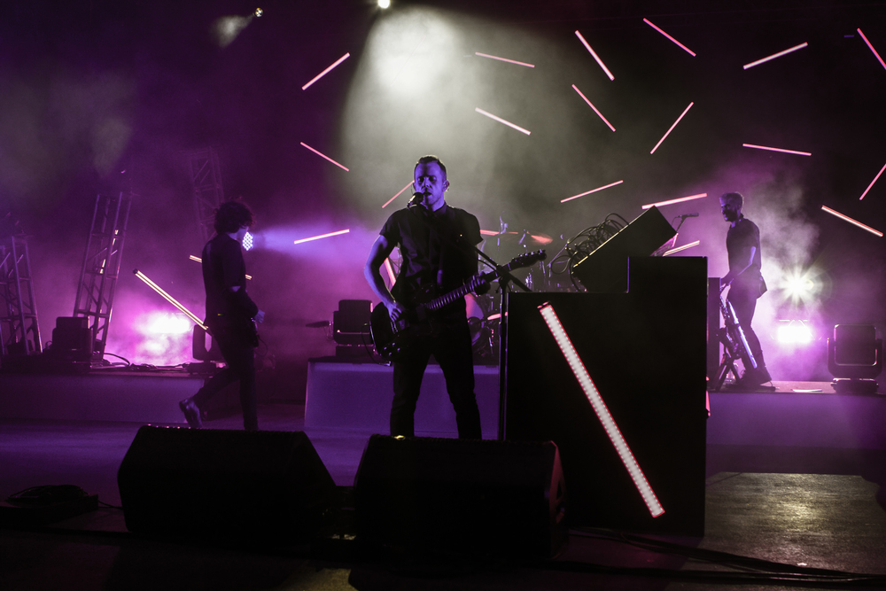 M83 with brilliant visuals at Red Rocks (Photo Credit: Matt Smith)