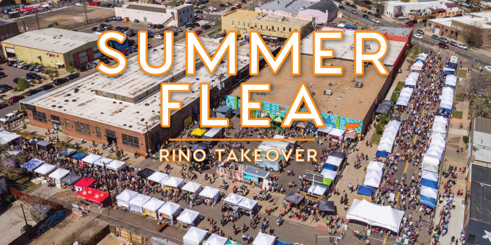 The Denver Flea Takes RiNo 6/25 &26  Scratch your itch to buy quirky, locally made goods and oddities with this summer's flea. Come swarm the RiNo Streets and bring your reusable bags because you won't leave without an artisan arsenal of local products, cheeses, houseplants and what have you.  5$ Entry Fee  10-6pm both days.  www.denverflea.com