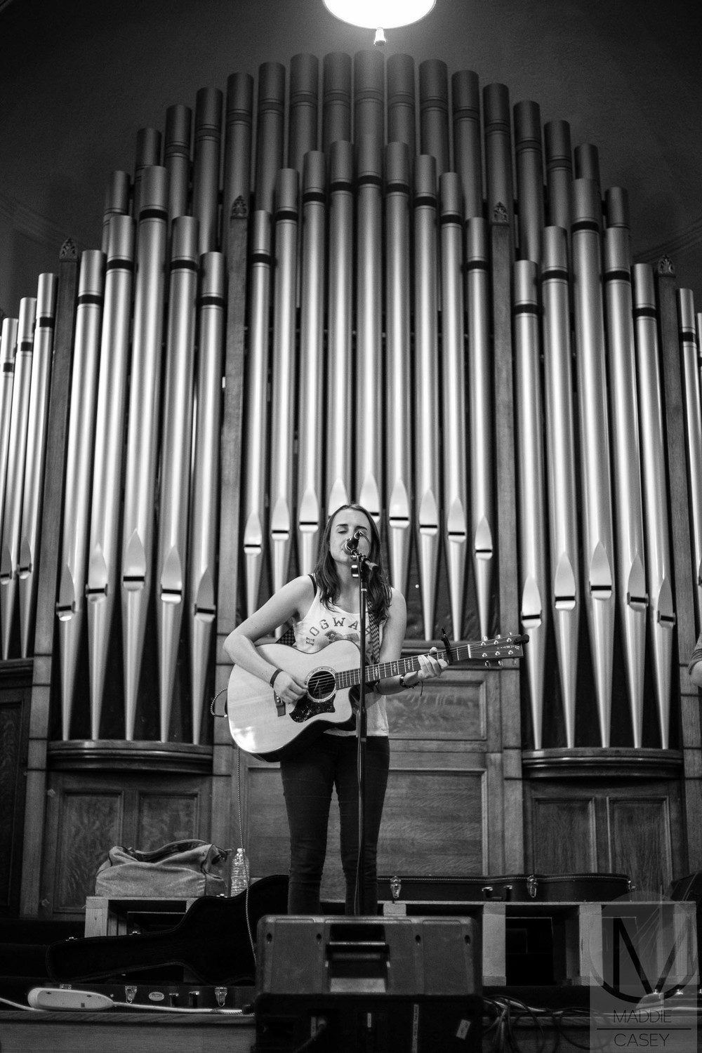 Olivia Rudeen at the South Broadway Church (Photo Credit: Maddie Casey)