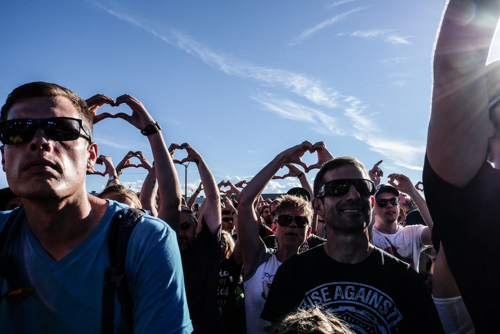 Nothing but love at this years Riot Fest (Photo Credit: Robert Castro)