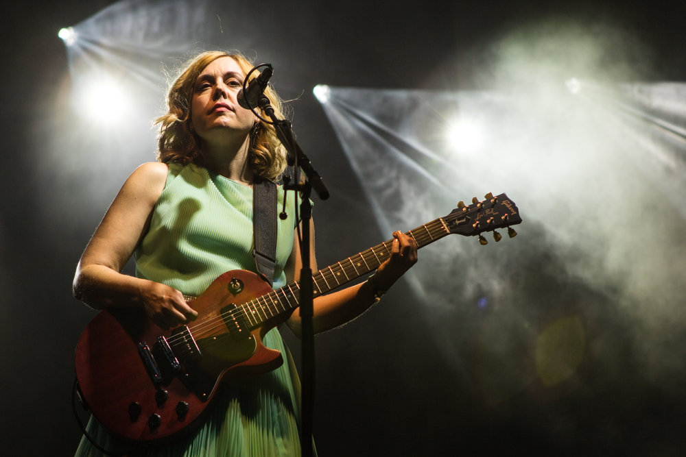Corin Tucker of Sleater Kinney played an amazing raucous set. (Photo Credit: Robert Castro)