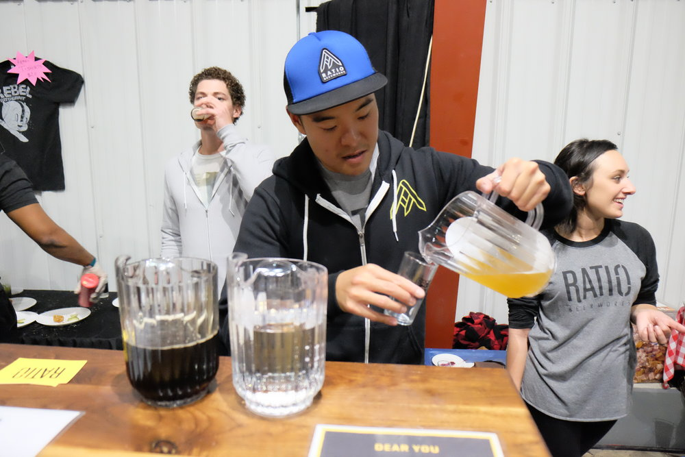 Serving up amazing beer our friends from Ratio were on hand. (Photo Credit: Robert Castro)