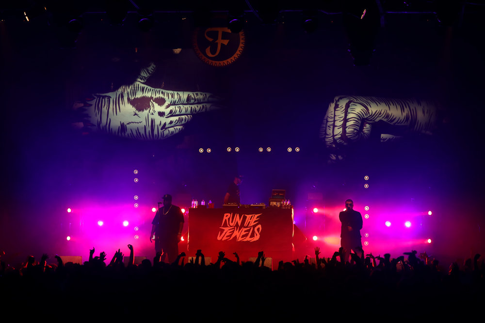 Run The Jewels performing in front of a sold out Denver crowd. (Photo Credit: Aly McClaran)