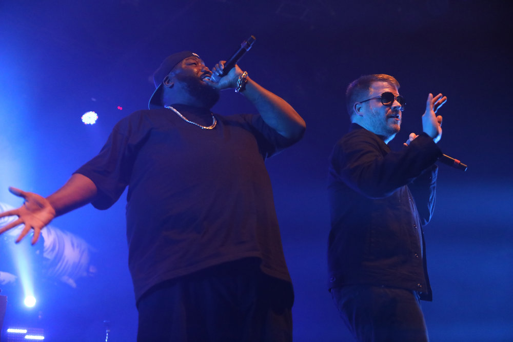 Run The Jewels performs at a sold out show February 11, 2017 at Fillmore Auditorium in Denver. Photo by Alyson McClaran