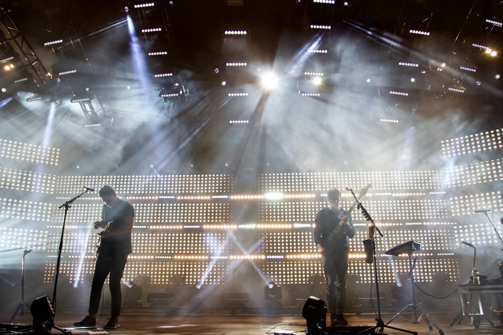 alt-j performing at Red Rocks. (Photo Credit: Robert Castro)