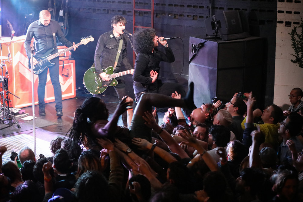 At the Drive-In performed House of Vans at Mohawk on March 15, 2017 during SXSW in Austin.