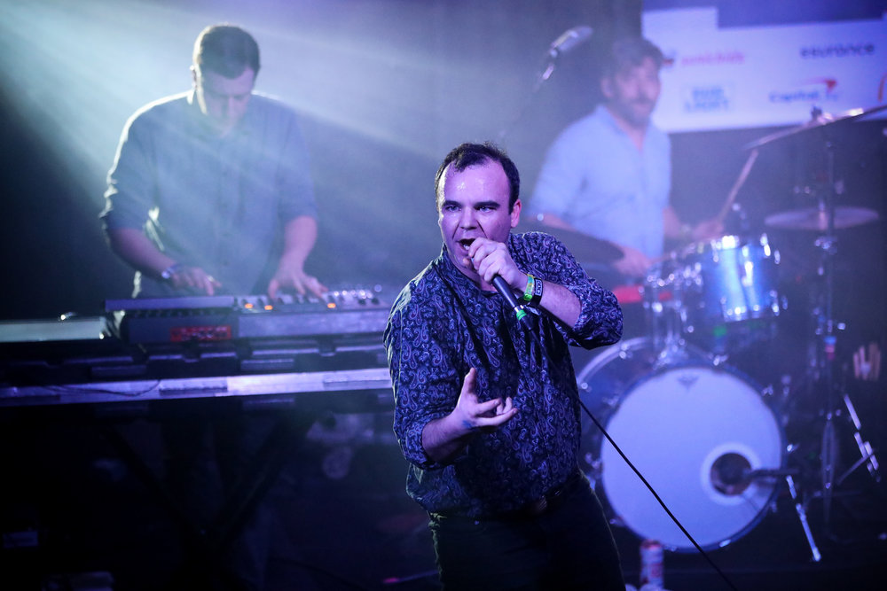 Future Islands performed House of Vans at Mohawk on March 15, 2017 during SXSW in Austin.