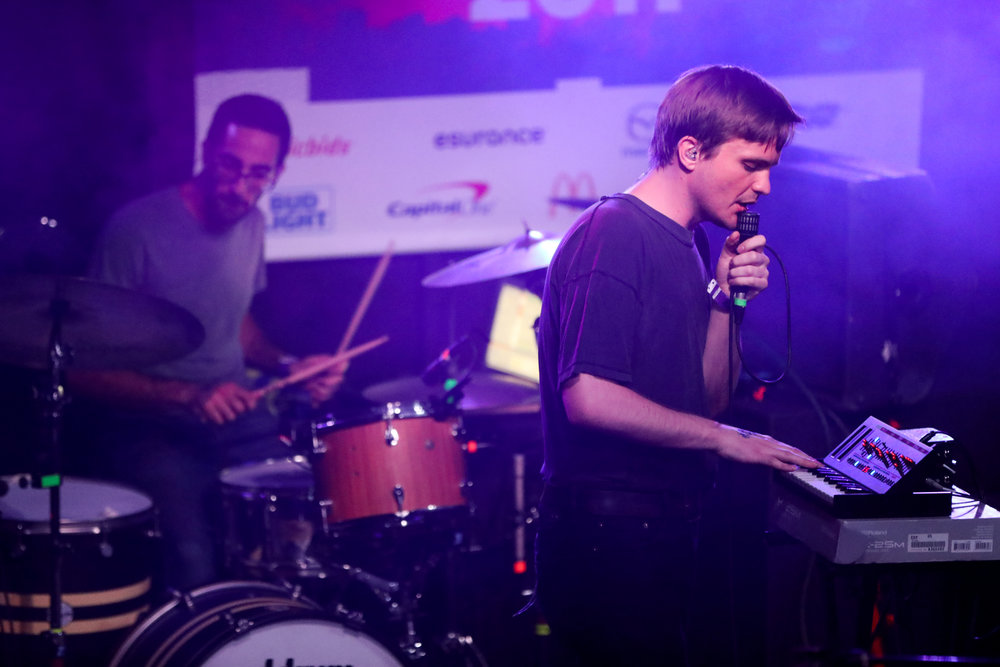 Merchandise performed House of Vans at Mohawk on March 17, 2017 during SXSW in Austin.
