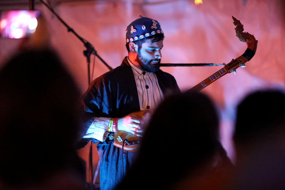 Indrajit Banerjee performed at Hotel Vegas on March 16, 2017 during SXSW in Austin.