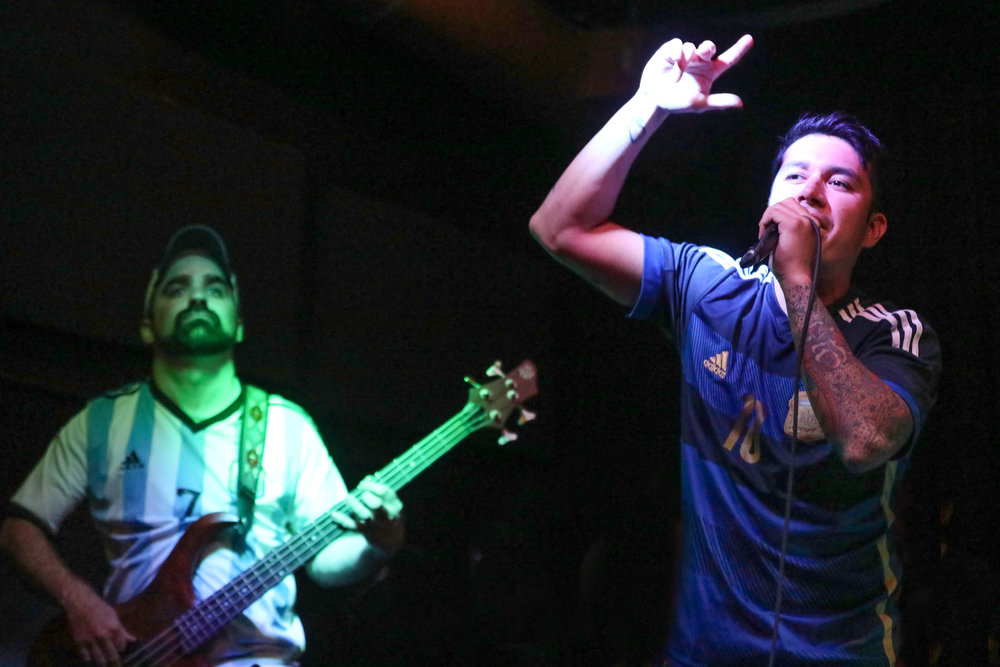 Quilombo performed cumbia-reggae music at Goosetown Tavern on April 26, 2017.