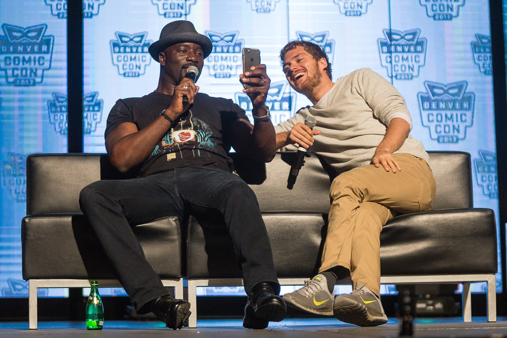 Mike Colter and Finn Jones. Photo by Jason Pendleton