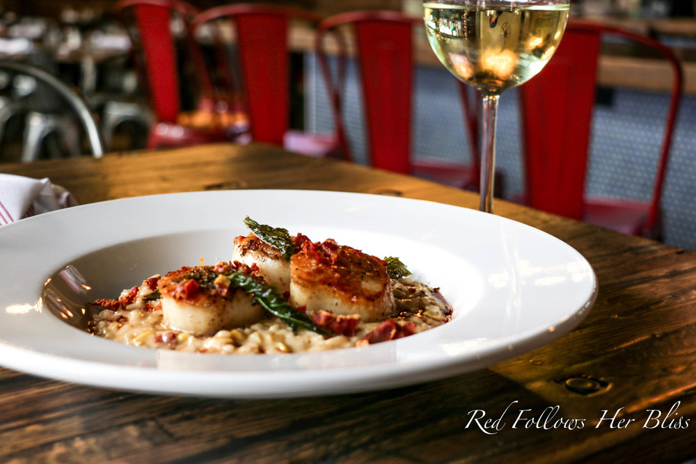 Sea Scallops with Risotto