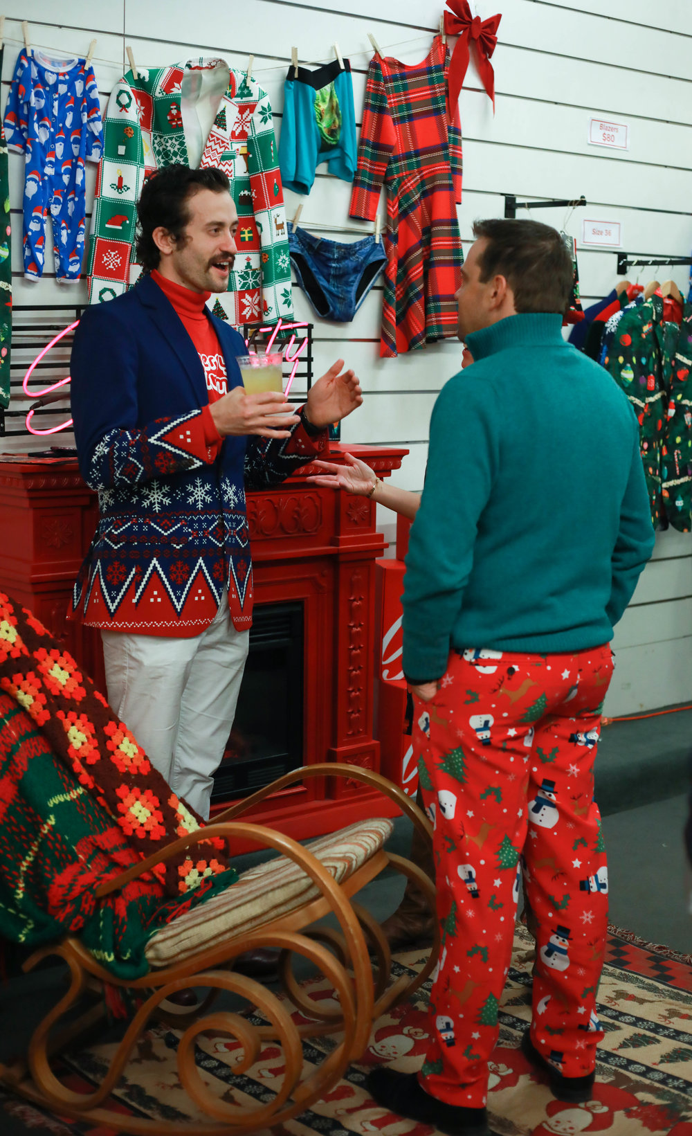 Holiday revelers shopping threads from Shinesty (Photo Cred: Meesh Deyden)