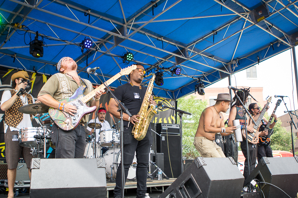 Los Mocochetes playing to the Sesh Stage crowd at The UMS. (Photo Credit: Robert Castro)