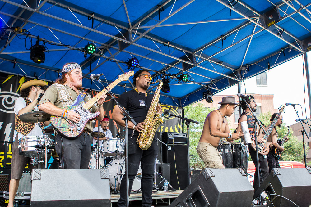 Los Mocochetes playing during this year's Underground Music Showcase. (Photo Credit: Robert Castro)