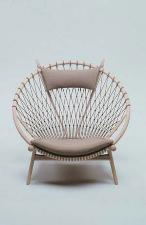 CIRCLE CHAIR 1986 by Hans Wegner. Made by PP Mobler. Image credit: Brayton-Steelcase