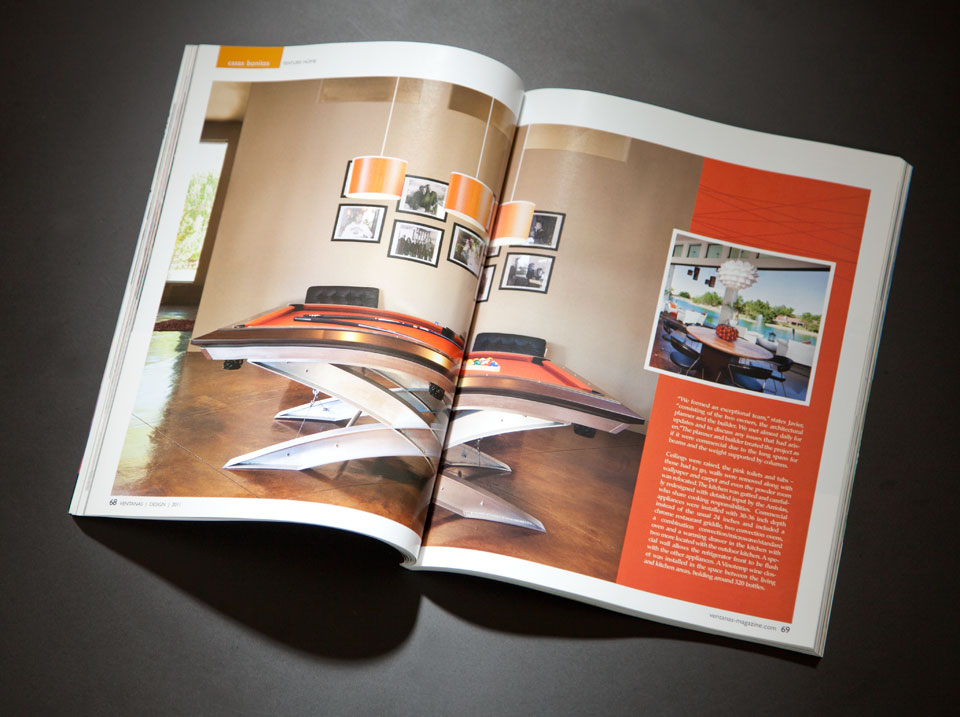 Ventanas home section  feature spread.
