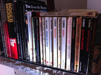 Beloved collection of early edition Bond novels by Ian Fleming