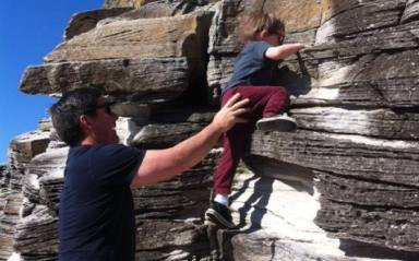 Rock climbing at Clovelly