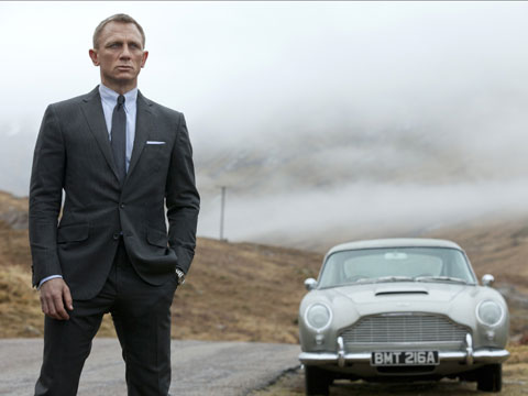 Skyfall featuring Daniel Craig as James Bond.