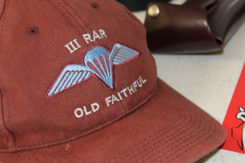 My trusty 3rd Battalion 'Old Faithful' baseball cap is never far from reach.
