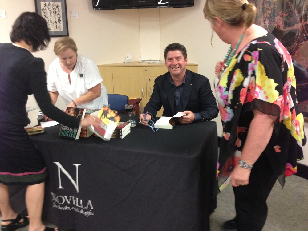 Signing at Hornsby Library